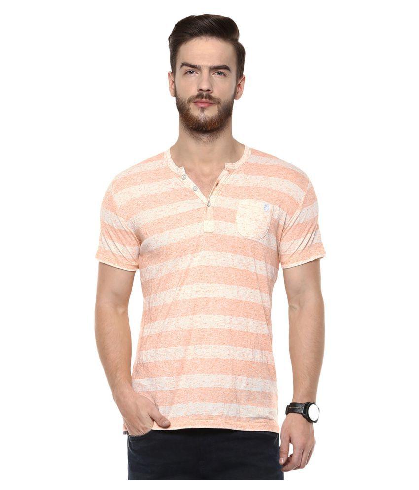 Mufti Orange Henley T-Shirt