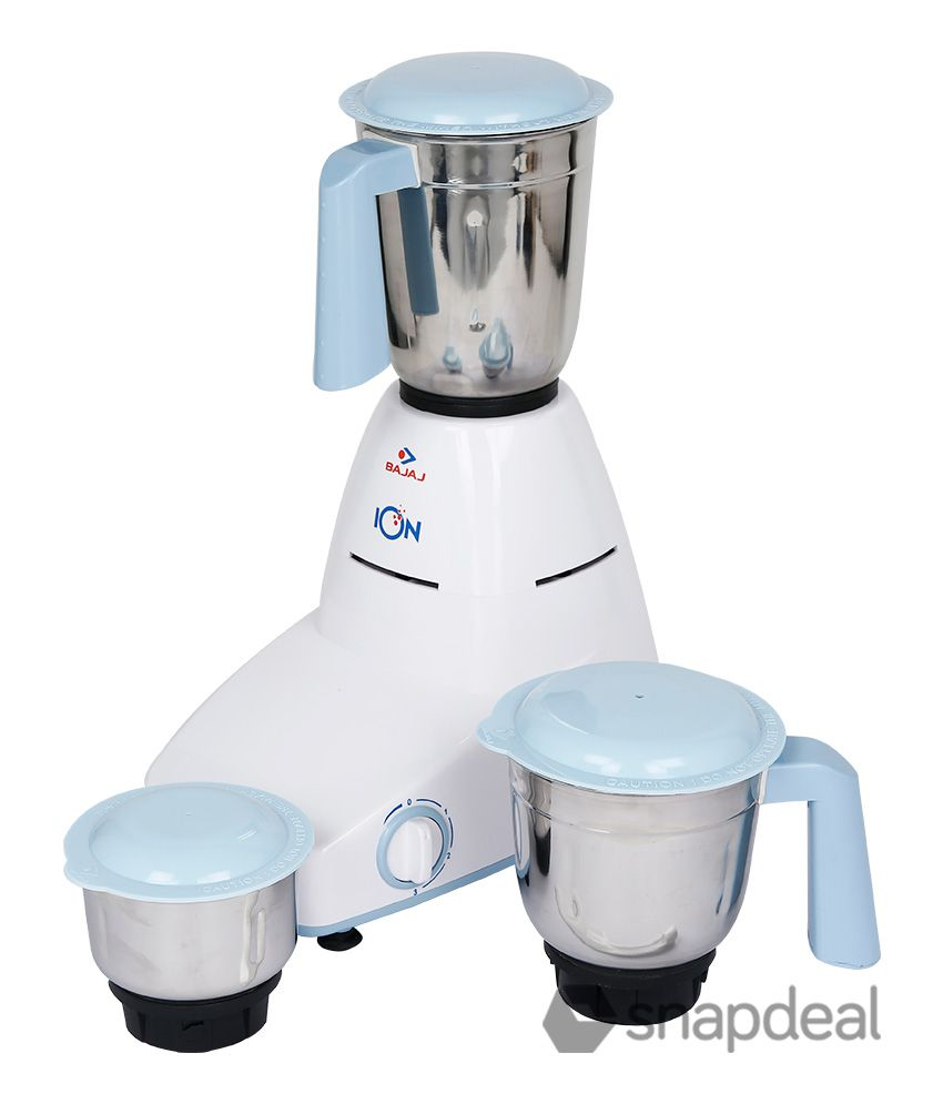 bajaj ion 500 watt 3 jar mixer grinder price in india buy bajaj rh snapdeal com