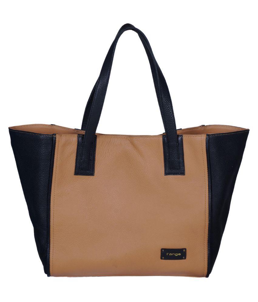 L'ange Beige Pure Leather Shoulder Bag