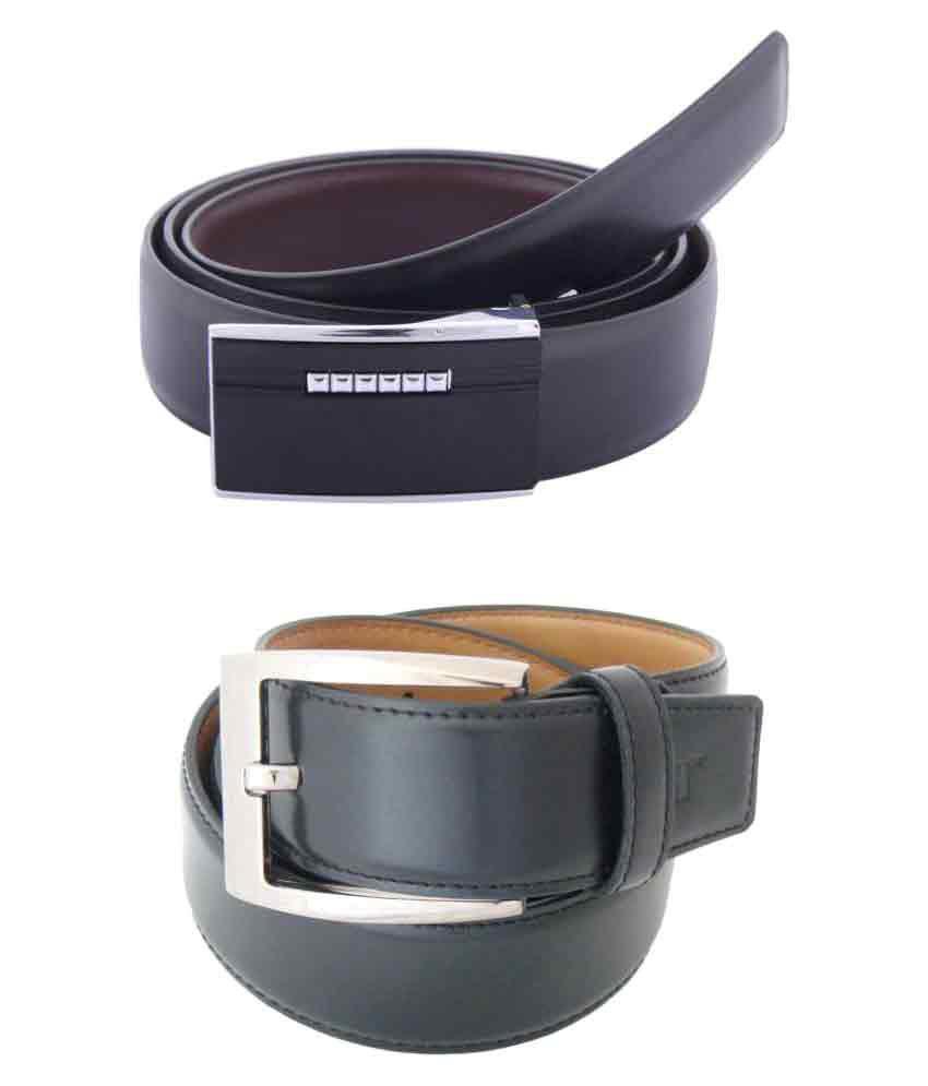 SFA Black PU Casual Belts