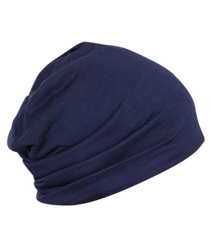 FabSeasons Blue Plain Cotton Caps