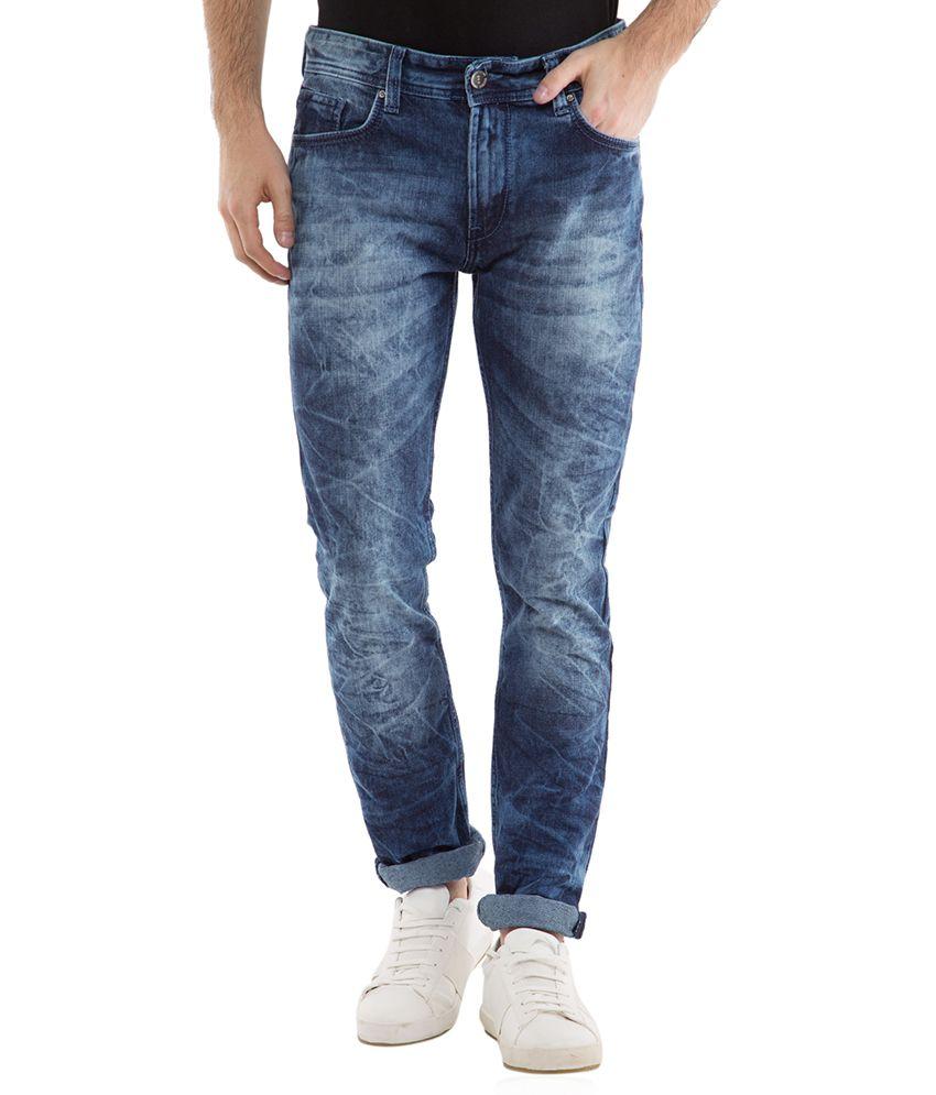 Locomotive Navy Blue Straight Jeans