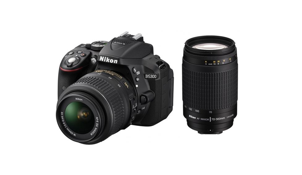 Nikon D5300 with AF-P DX NIKKOR 18mm-55mm f/3.5-5.6G VR Lens...