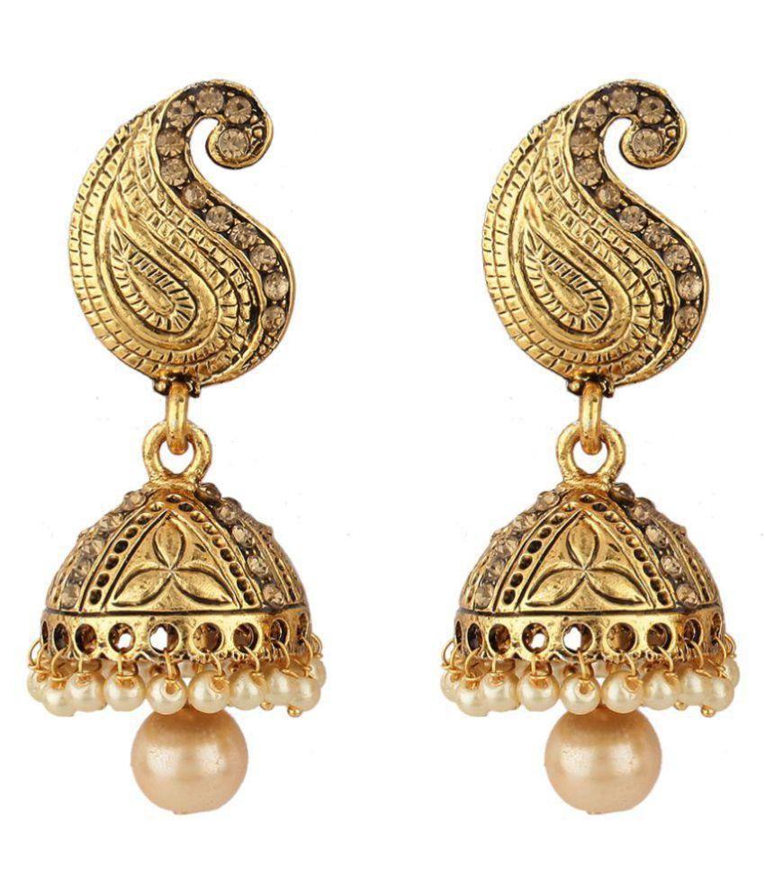 Styylo Fashion Exclusive Golden Earrings