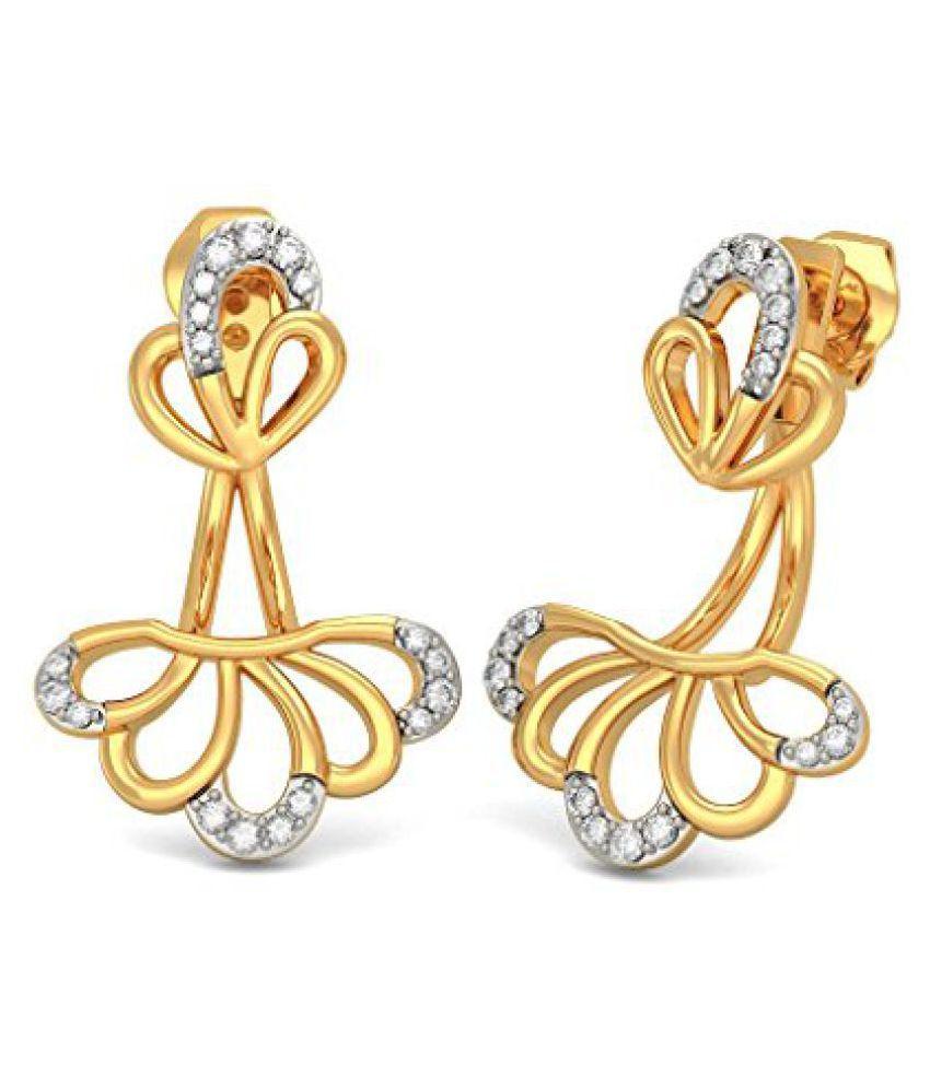 5ad771695 BlueStone 18k Yellow Gold and Diamond Keya Stud Earrings - Buy BlueStone  18k Yellow Gold and Diamond Keya Stud Earrings Online at Best Prices in  India on ...