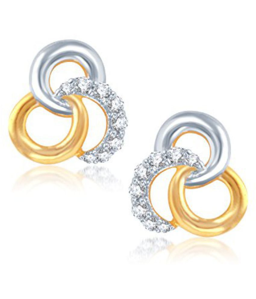 VK Jewels Amour Gold And Rhodium Plated Earring for Womens -ER1012G [VKER1012G]