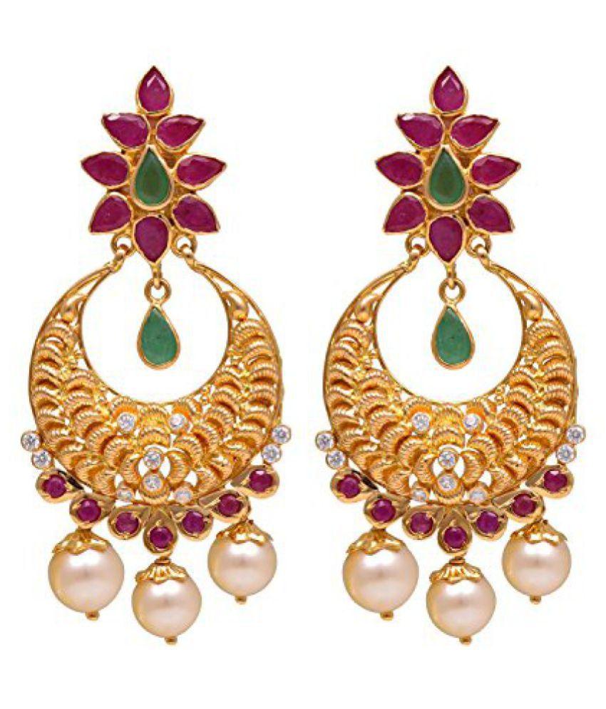 joyalukkas 22k Yellow Gold Drop Earrings