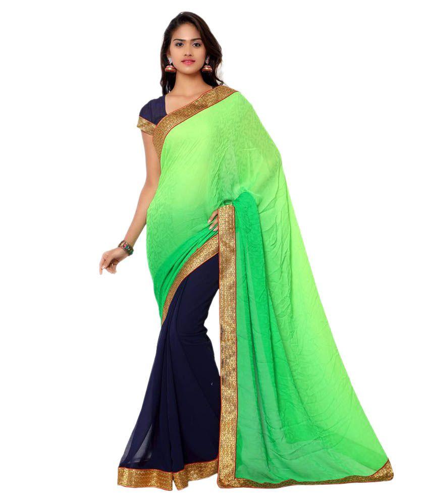 More and More Multicoloured Chiffon Saree