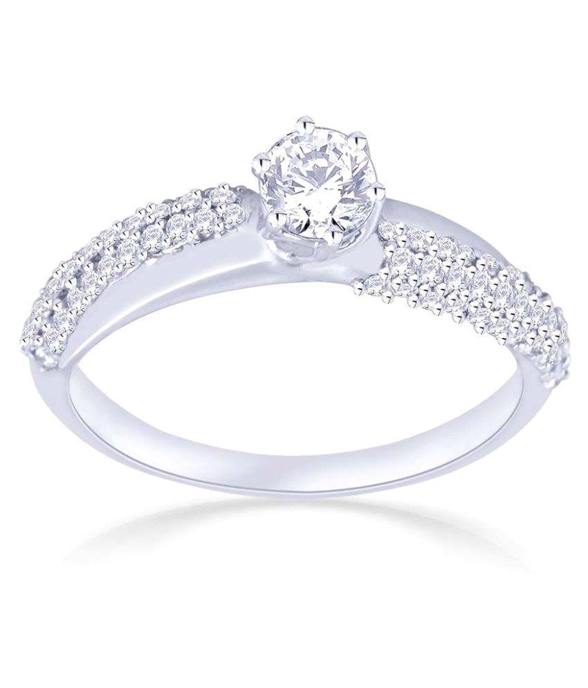Malabar Diamond: Malabar Gold And Diamonds 950Pt Platinum Ring: Buy Malabar