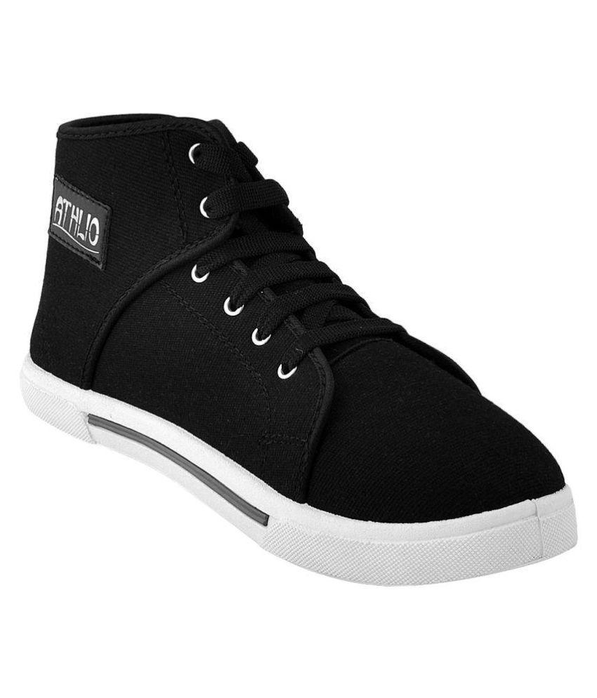 Athlio Sneakers Black Casual Shoes
