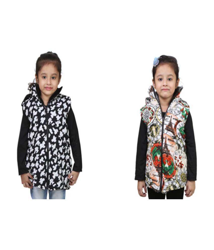 Qeboo Black Nylon Jacket Pack of 2