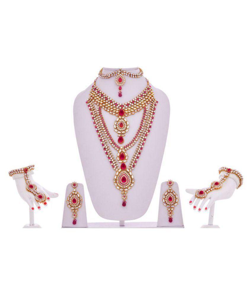 Lucky Jewellery Maganta, Kundan Set