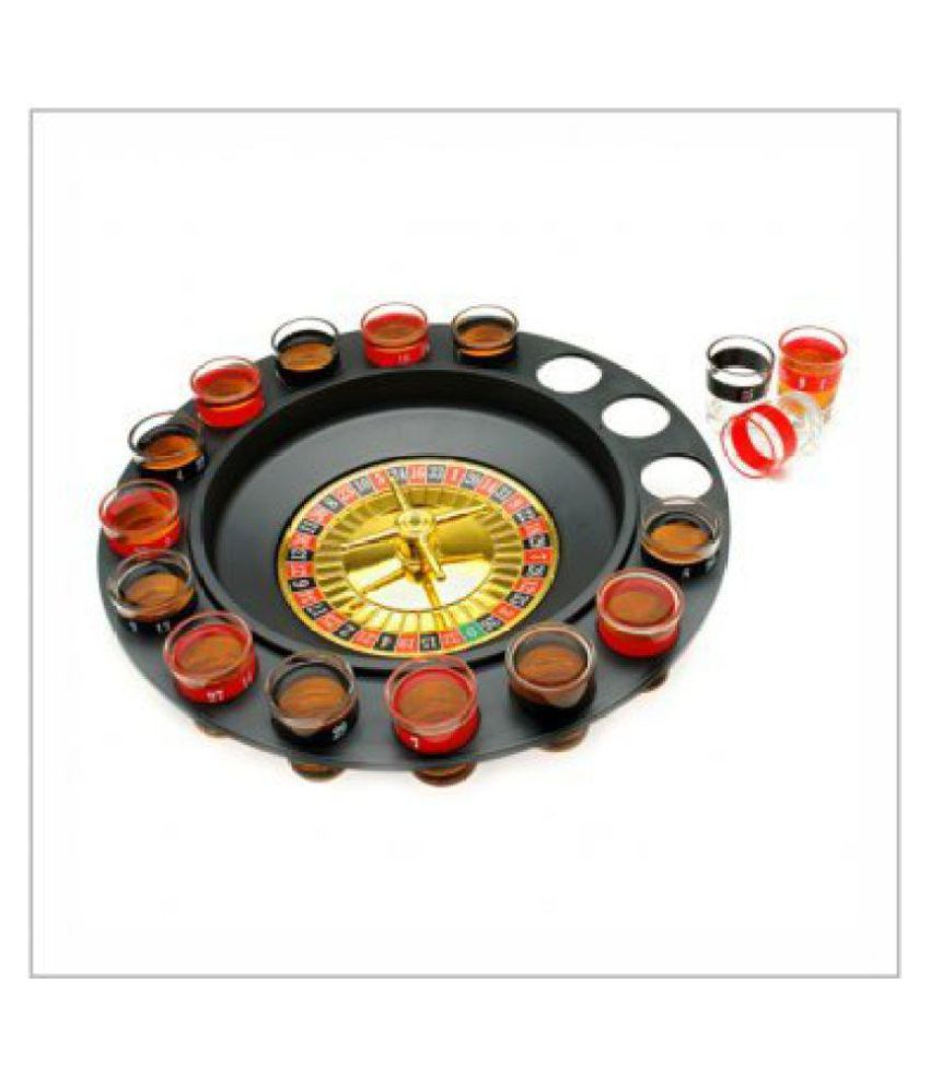 Theme My Party Drinking Casino Game Spin & Shot - 16 Shot Glass Bar Game Set