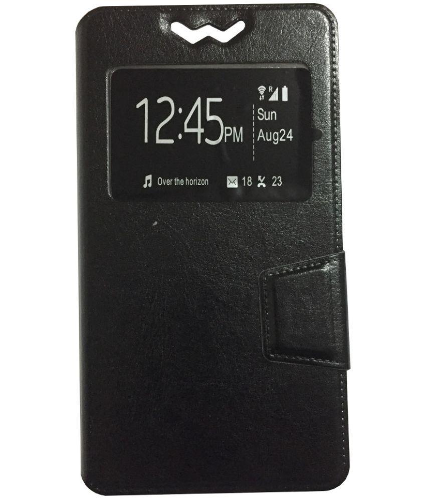 Gionee S6 Pro Flip Cover by Lomoza - Black