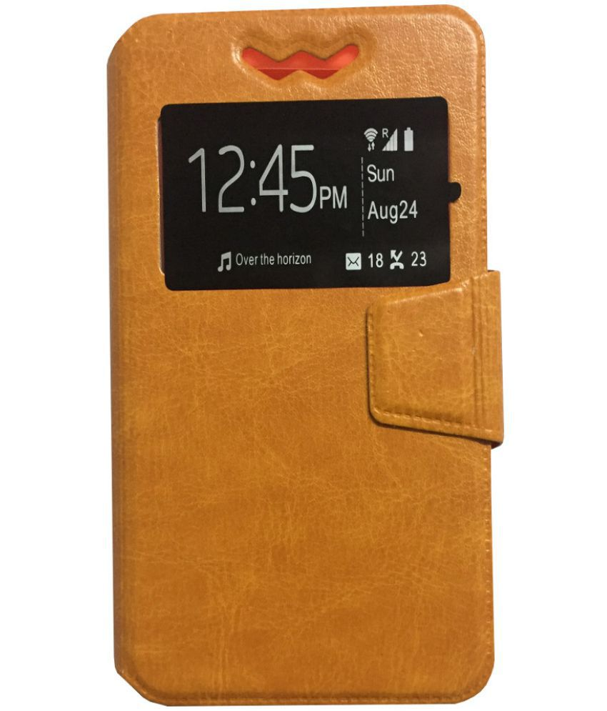 Micromax Canvas Magnus A117 Flip Cover by Lomoza - Orange
