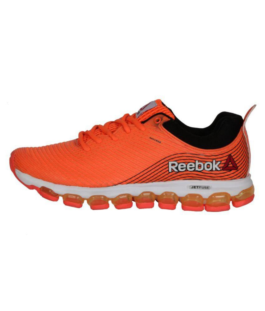 cheap for discount d94cb 889a0 Reebok Jet Fuse Run Orange Running Shoes .