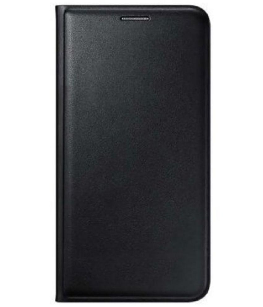 Samsung Galaxy J5 Flip Cover by Case Cloud - Black