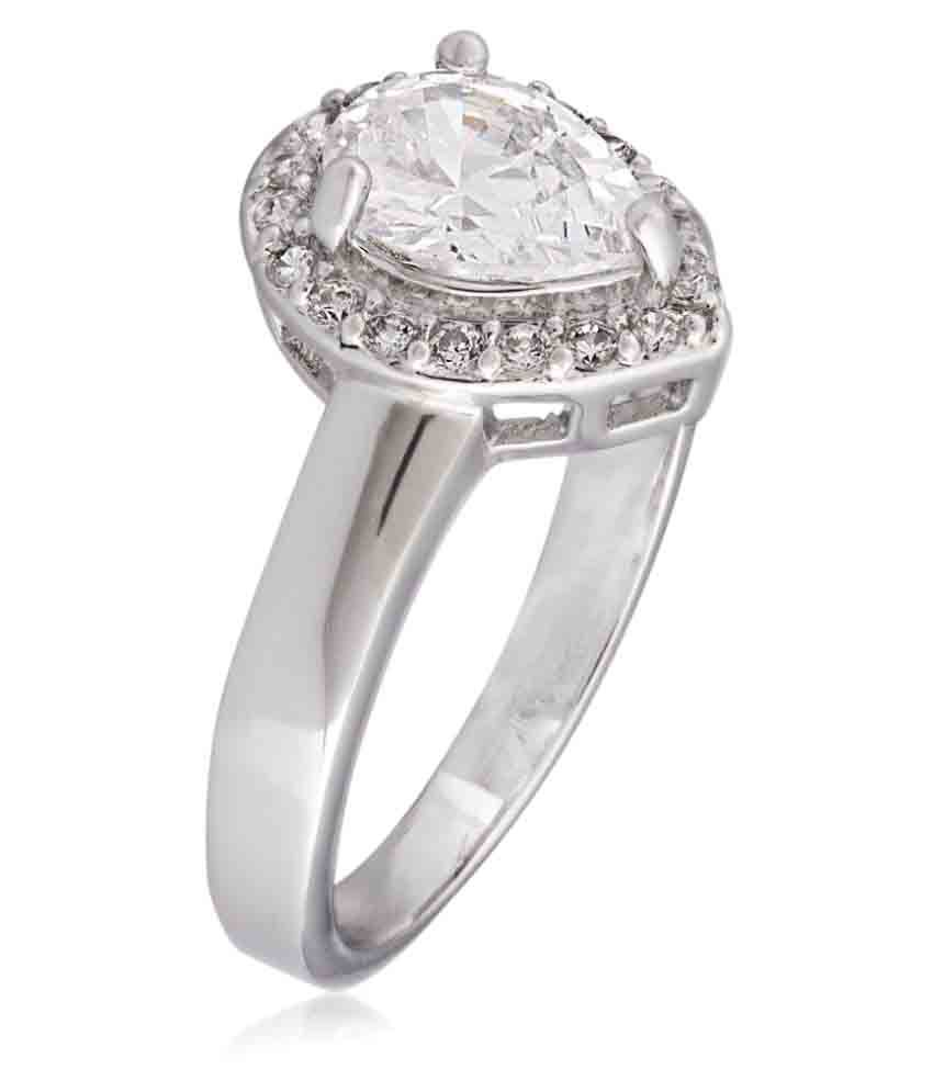 Shaze Silver Brass Ring