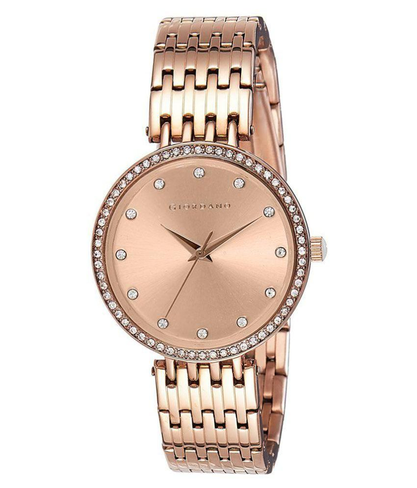 21dd8ded1 Giordano Rose Gold Analog Women's Watch Price in India: Buy Giordano Rose  Gold Analog Women's Watch Online at Snapdeal
