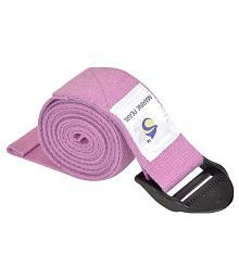 Marine Pearl Purple 5 Ft Organic Cotton Yoga Strap - Perfect For Stretching, Holding Poses, Improving Flexibility & Physical Thearpy (Lifetime Guarantee)