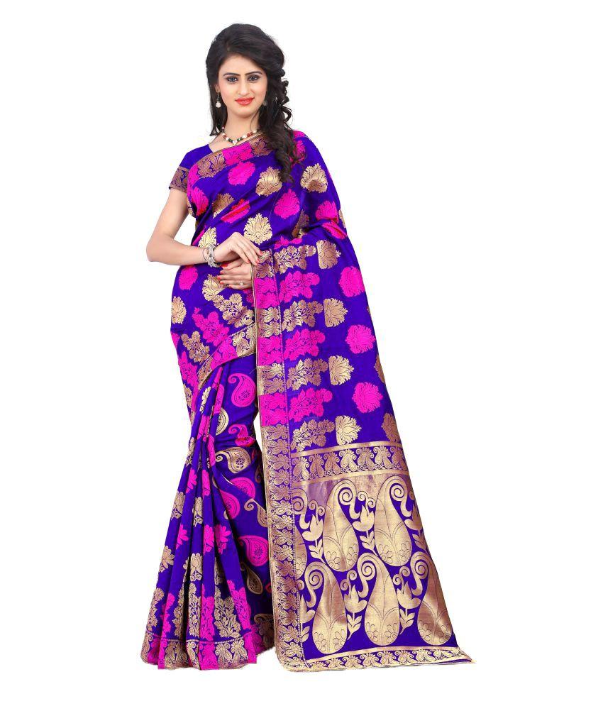 82a5a085e0c91 Fab Royal Blue Banarasi silk Saree - Buy Fab Royal Blue Banarasi silk Saree  Online at Low Price - Snapdeal.com