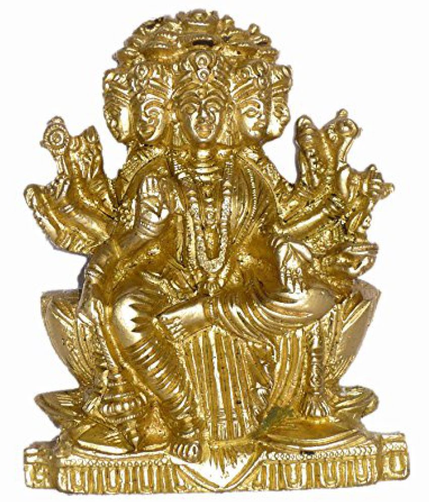 Brass Metal Gayatri Maa Plate Medium Statue by Bharat Haat  BH01464