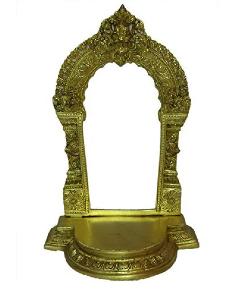 Brass Metal Kaman Sihasan Fine Collectible by Bharat Haat  BH01360