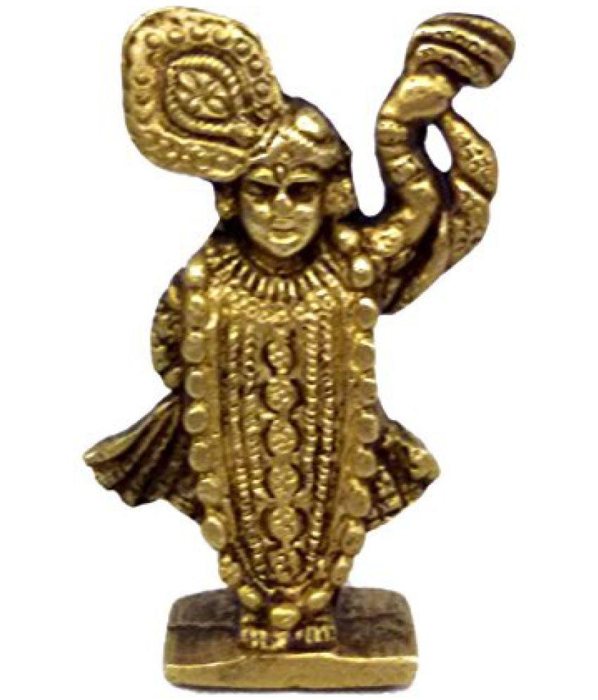 Pure Brass Metal Shreenathji Statue in Fine Finishing and Decorative art by Bharat Haat  BH03812