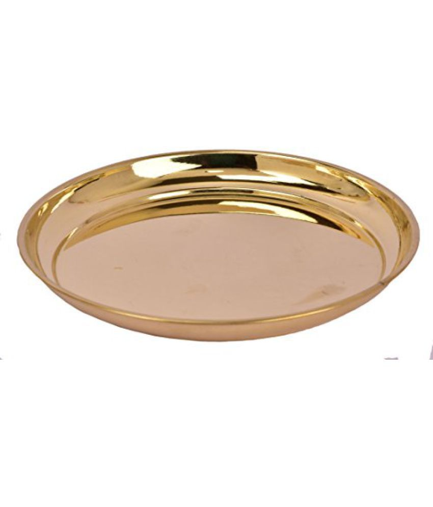 Pure Brass Metal plain plate no 1 in Decorative art by Bharat Haat  BH04972