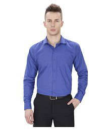 Regal Fit Plus Blue Formal Regular Fit Shirt