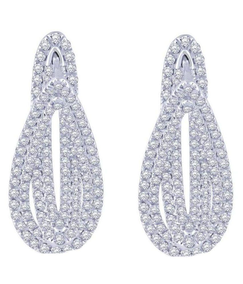 Malabar Gold and Diamonds 18k Gold Diamond Hangings
