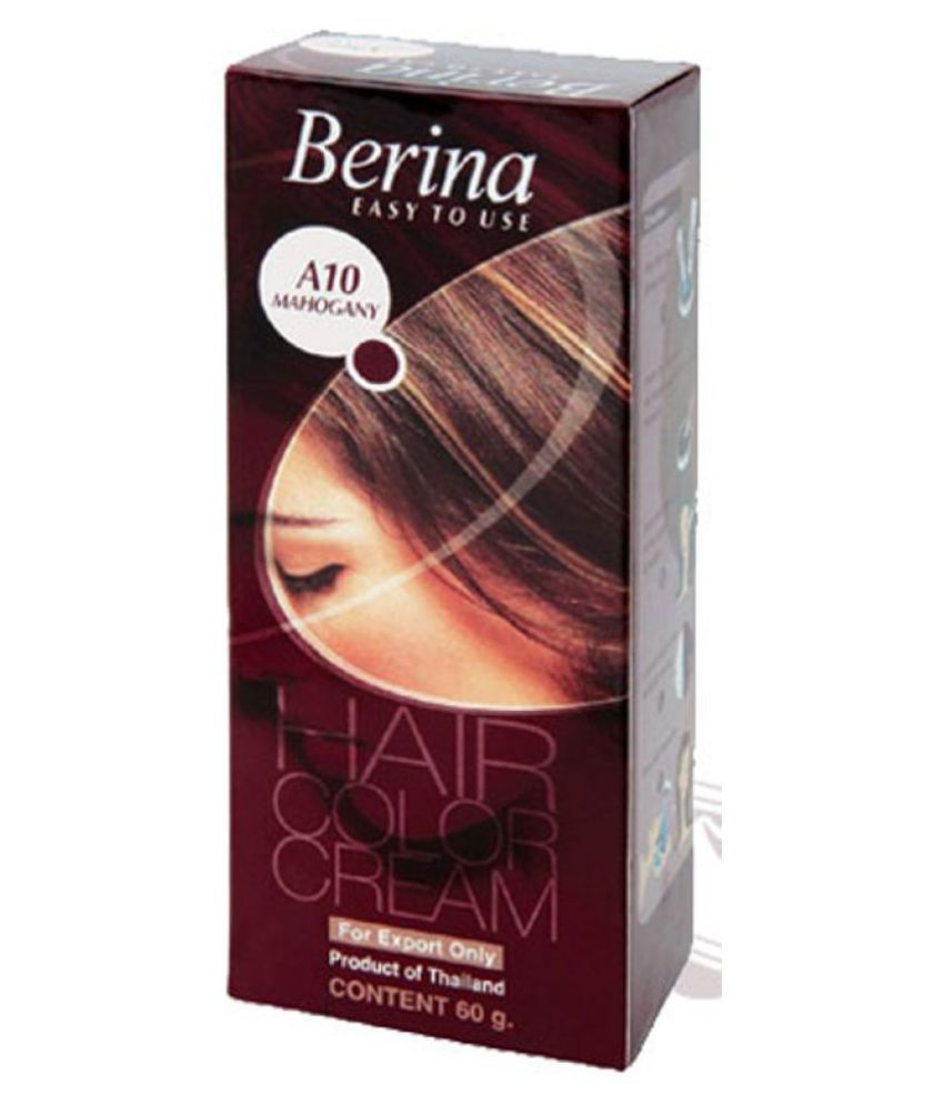 BERINA HAIR CCOLOR CREAM A10 MAHOGANY Permanent Hair Color Mahogany 60 gm