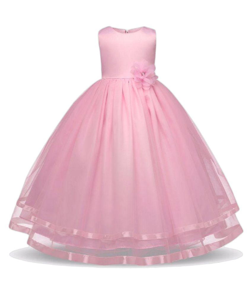 Sofyana Pink Girls Party Wear Wedding Gown Dress - Buy Sofyana Pink ...