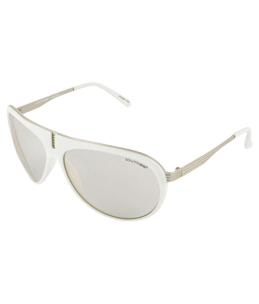 Vintage White Aviator Sunglasses ( Aviator on the move )
