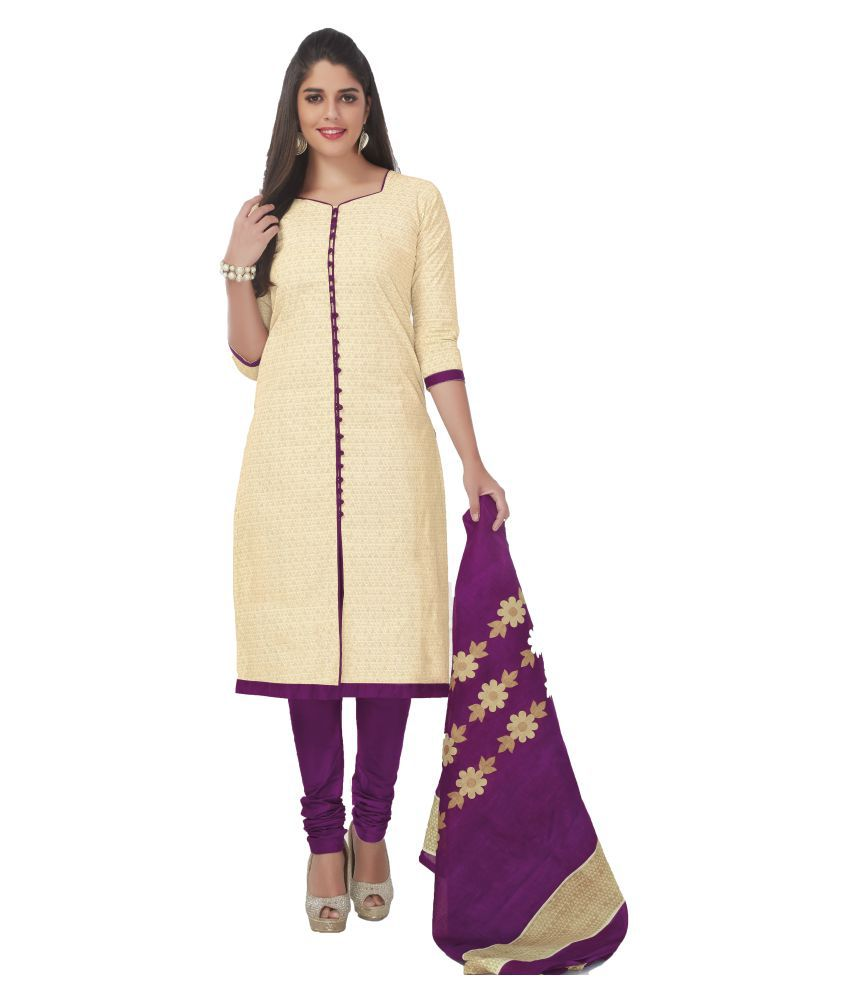 90aaec862 Ganpati Cotton Suits Beige Cotton Dress Material - Buy Ganpati Cotton Suits  Beige Cotton Dress Material Online at Best Prices in India on Snapdeal