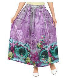 Poshak Mart Poly Crepe A-Line Skirt