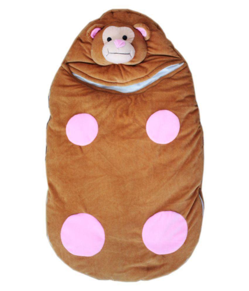 Amardeep Brown Polyester Sleeping Bags ( 72 cm × 40 cm)