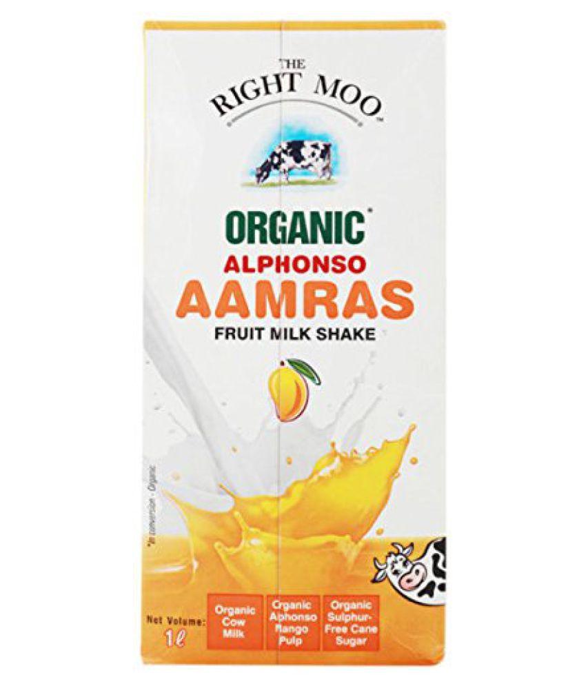 The Right Moo Organic Mango Aamras Tetra Pack, 1L