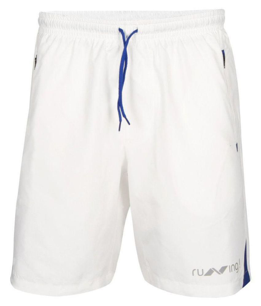 Nivia White Running Shorts