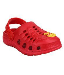 11e Boys & Girls Red Clogs