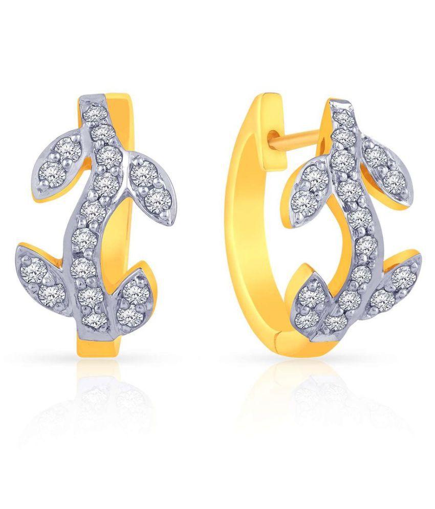 Malabar Gold and Diamonds 18k Gold Cubic zirconia Studs