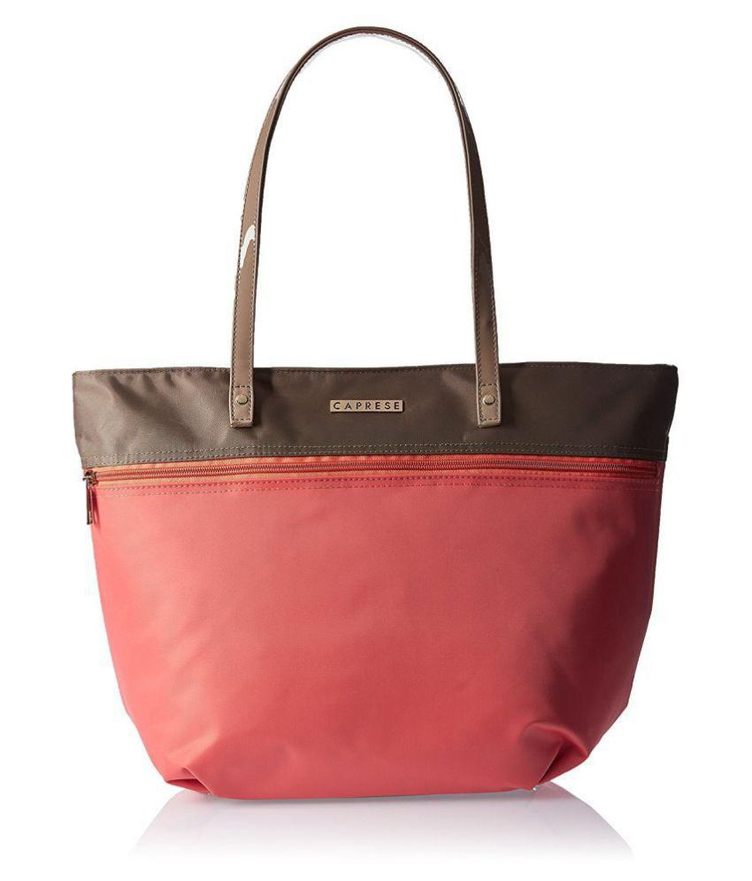 Caprese Pink Faux Leather Shoulder Bag  available at snapdeal for Rs.1234