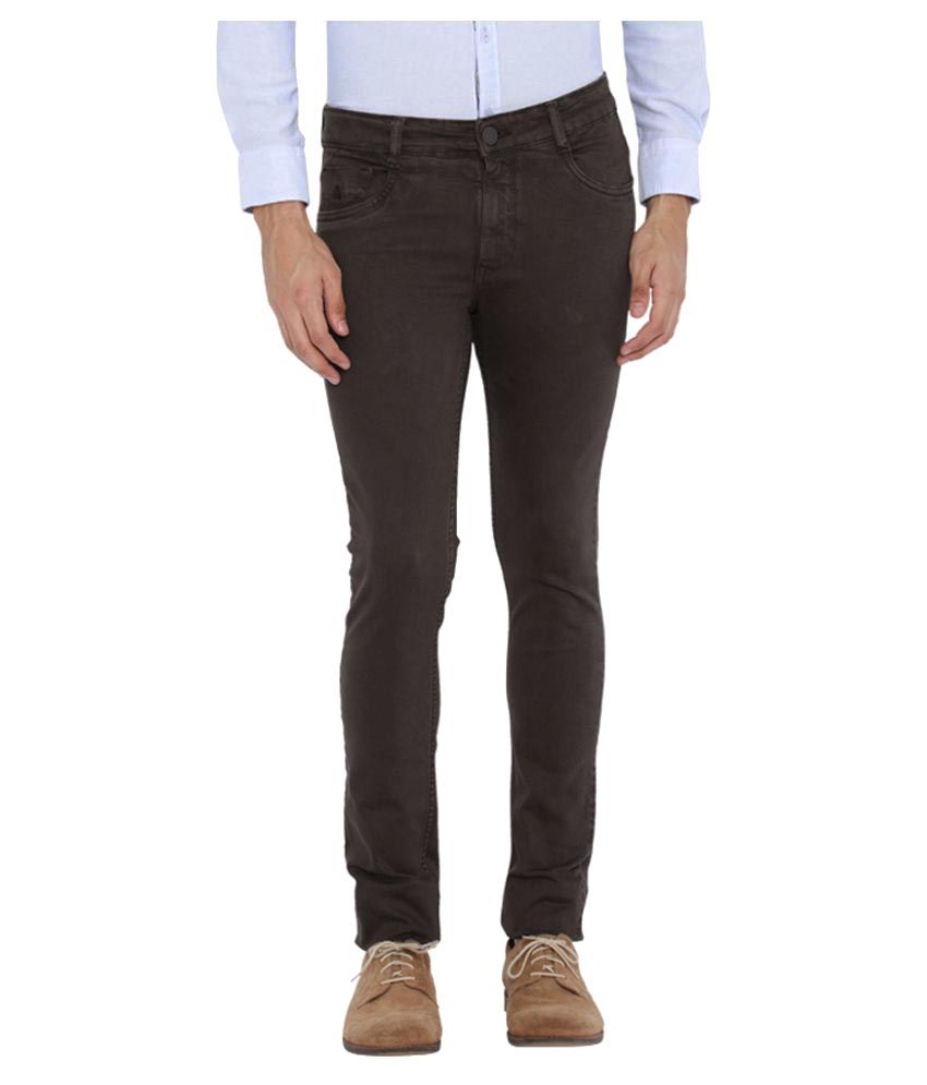 Parx Brown Slim Jeans