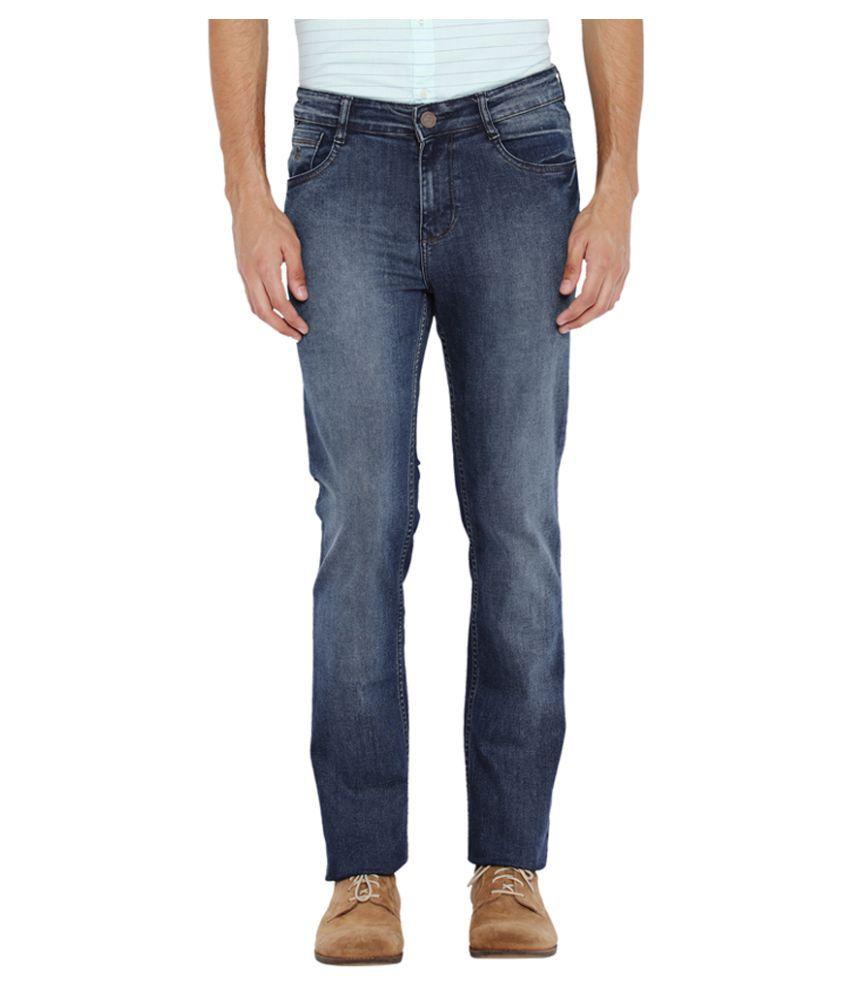 Parx Dark Blue Regular Fit Jeans
