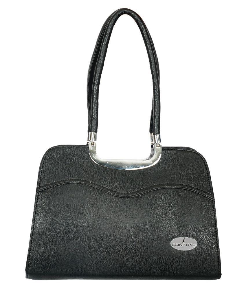 Fantosy Black P.U. Shoulder Bag