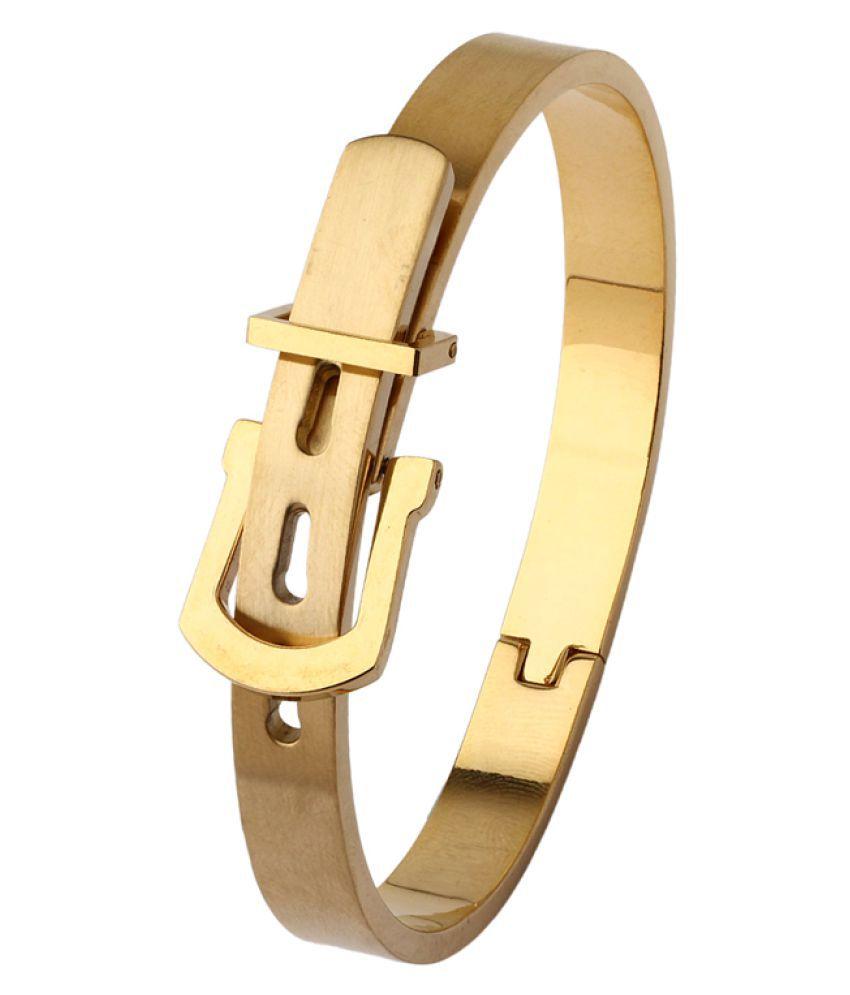 Dare Gold Plated Designer Bracelet  For Men