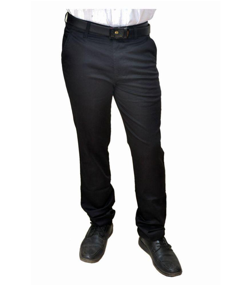 Novowels Black Slim Flat Trousers