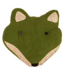 Tlf Fox Head Shaped Cushion - Green