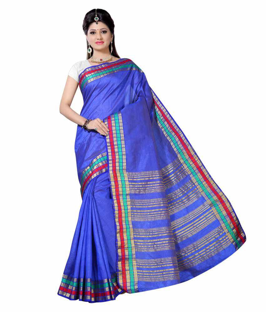 Alankrita Blue Tussar Silk Saree