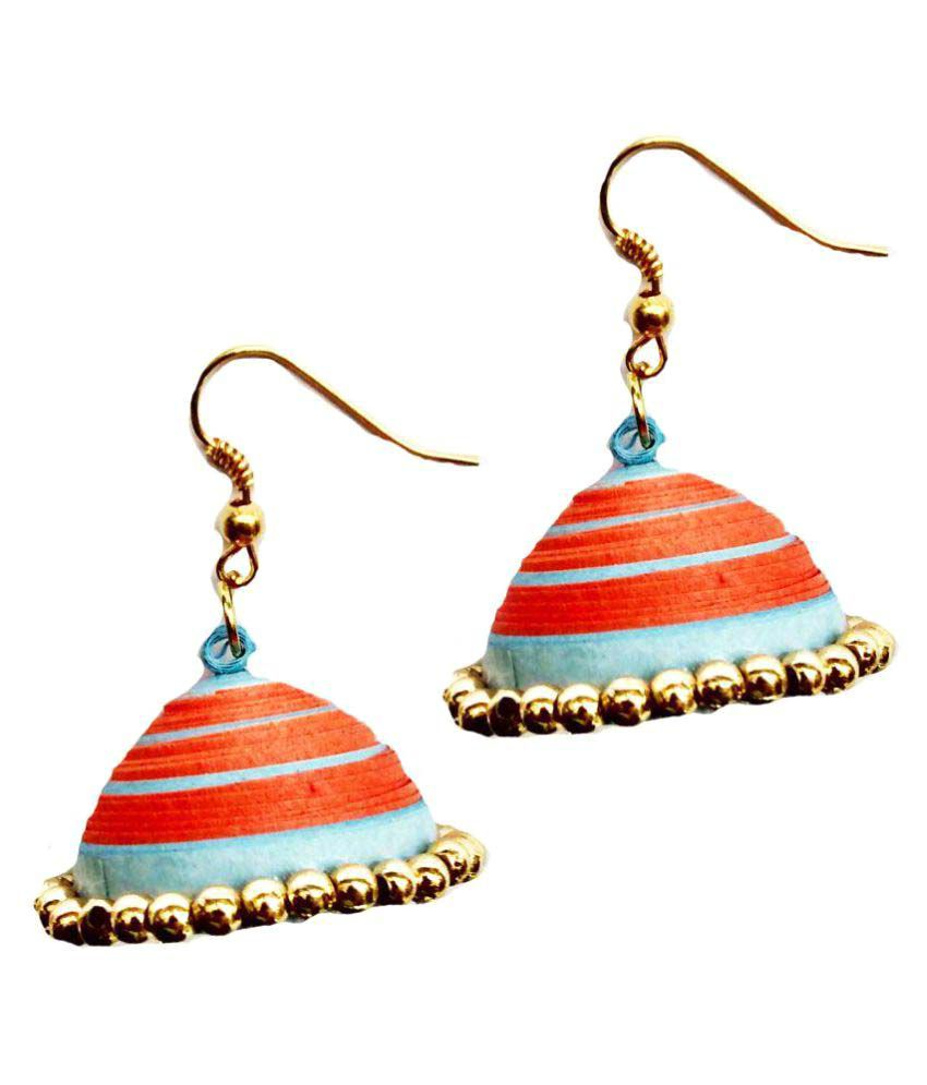 Shrungarika Multicolour Jhumki Earrings